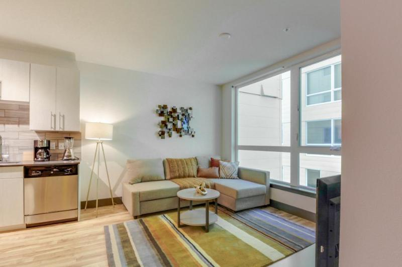 Modern, dog-friendly getaway w/ shared sky lounge & gym, near waterfront! - Image 1 - Seattle - rentals