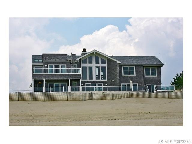 view from beach,back of house - Luxury Oceanfront Home Long Beach Island - Long Beach Township - rentals