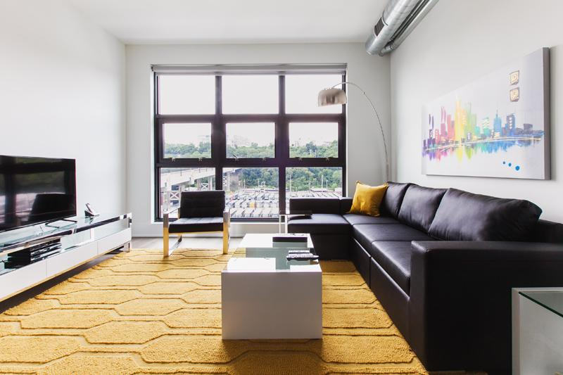 The Living Room - Sky City at Novia - 2 Bedroom - Hoboken - rentals