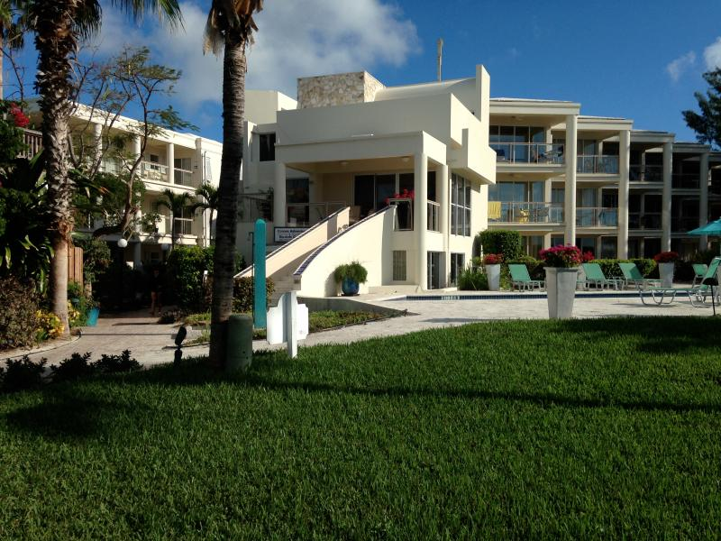 Condo is ground floor to the far right. Great access to pool and beach.  Steps away. - 2 bdr Condo on Grace Bay beach - Providenciales - rentals