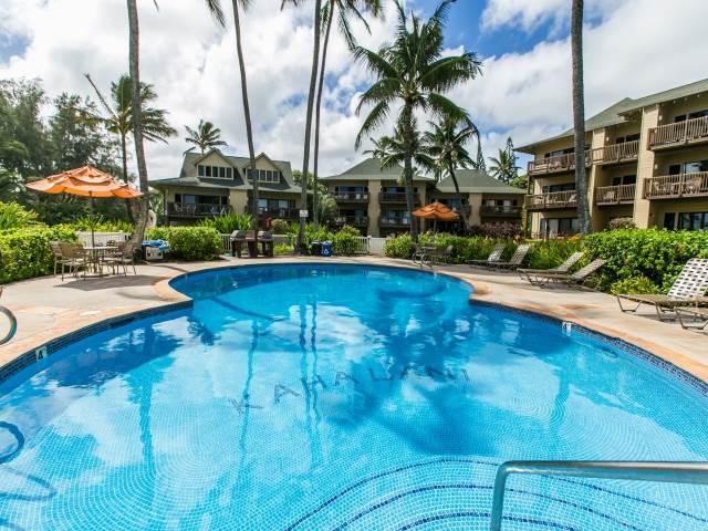 Kaha Lani Resort #129-OCEANVIEW, 2 BR, End Unit - Image 1 - Lihue - rentals