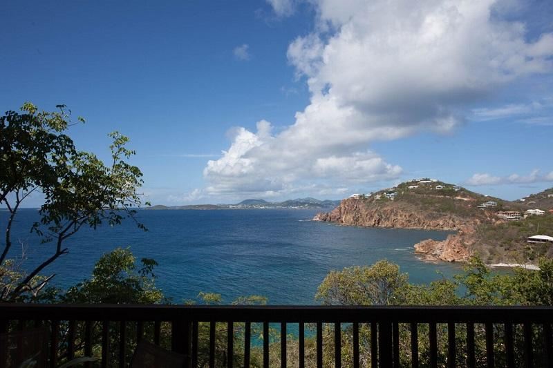 Relax with the view and the sound of the surf below - Tre Scalini Villa - Cruz Bay - rentals