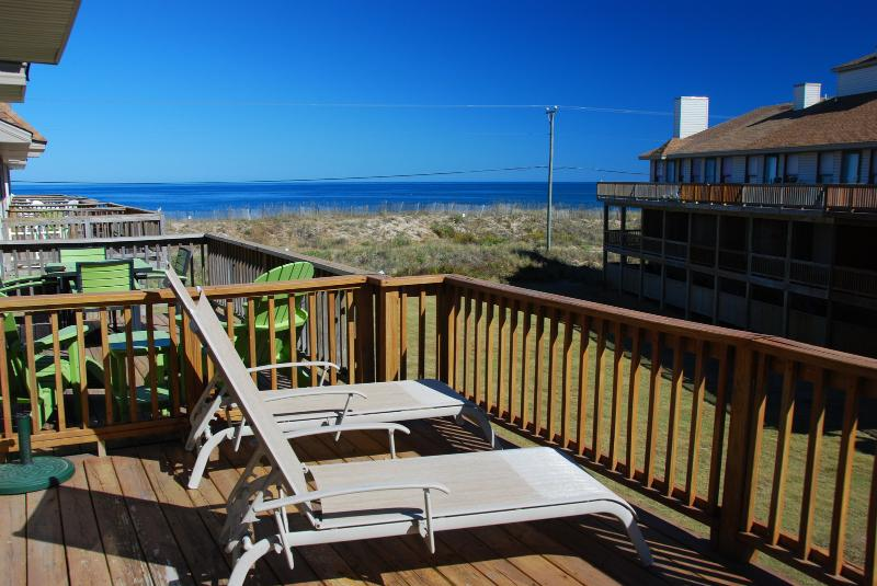 View from top balcony of this Sea Dunes Townhome - Sea Dunes - 2 BR/2 BA Town home - Pool, Tennis - Kitty Hawk - rentals
