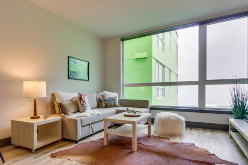 Dog-friendly condo near the waterfront with a shared roof deck, BBQ area & gym! - Image 1 - Seattle - rentals