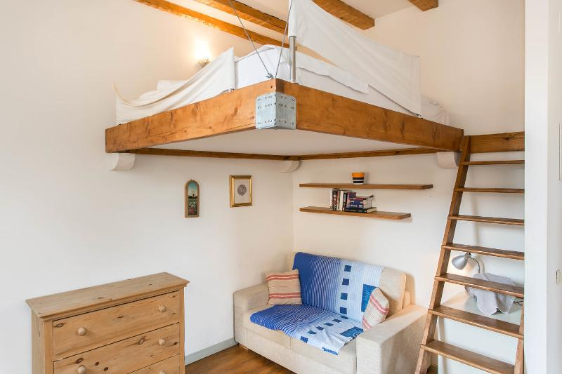 Living Room with double mezzanine bed over - Old Bakery apartment, Old Town, Dubrovnik - Dubrovnik - rentals