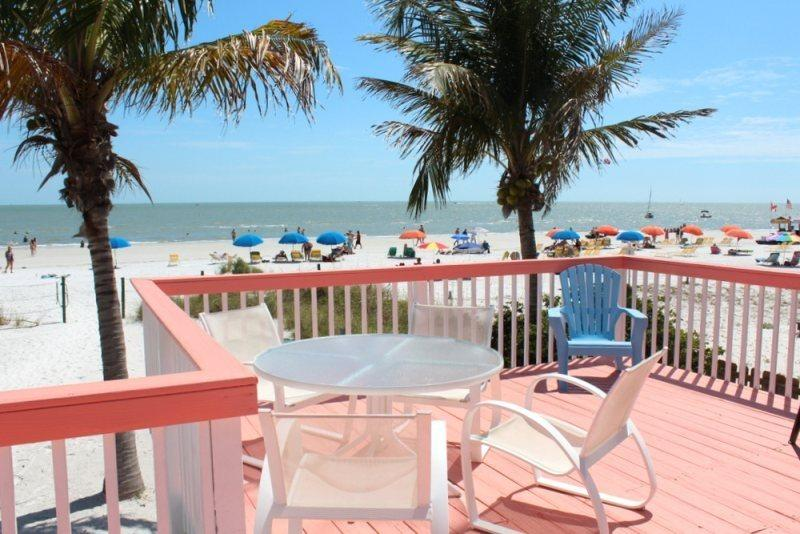 Enjoy the view all day long - Margaritaville, our Key West style Beachfront North End Cottage now with Sun Palace Vacations - Code: Margaritaville - Fort Myers Beach - rentals