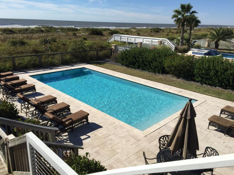Pool Area - Oceanfront Home with Pool, Sun-room, Large Deck and Private Beach Access! - Isle of Palms - rentals
