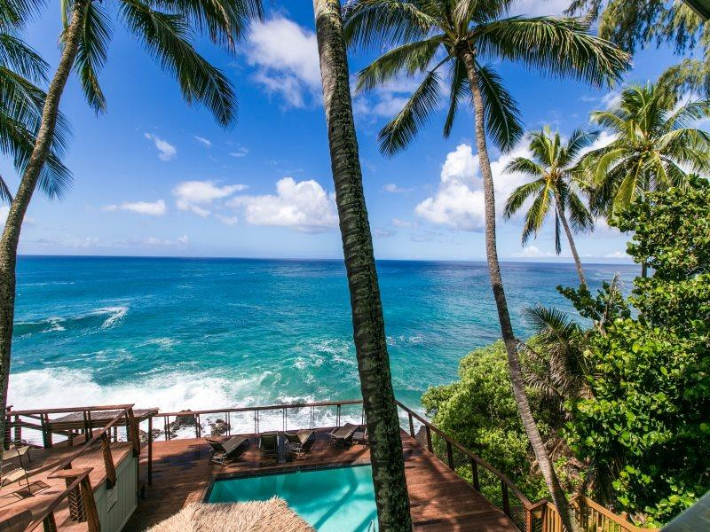 Ocean Front Pool at Poipu Palms. - Poipu Palms 204 FREE mid-size car! Second story 2 bed/2 bath oceanfront condo. - Koloa - rentals