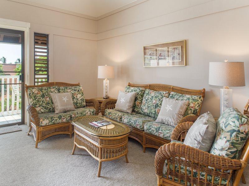 Living Room - Kiahuna 247-Fantastic 1 bd minutes from gorgeous Poipu area beaches. - Poipu - rentals