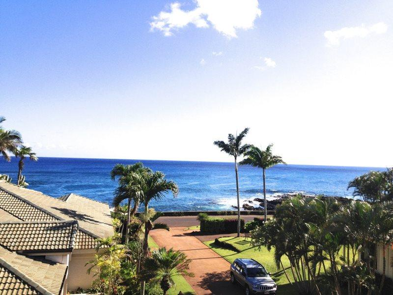 View from Master Bedroom - Hale Pohaku Kai-Spectacular 3bd house with ocean views short walk to beaches - Poipu - rentals