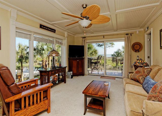 Lavish living room - Shorewood 212A, 2 Bedrooms, Oceanfront, 2nd Floor, Sleeps 4 - Hilton Head - rentals