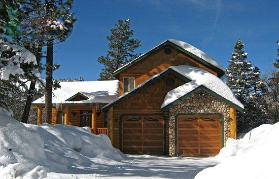 Front Of Cabin - Enjoy amazing views of the mountains and lake from this Big Bear cabin rental, with hot tub, near Bear Mountain Ski Resort. - Big Bear Lake - rentals