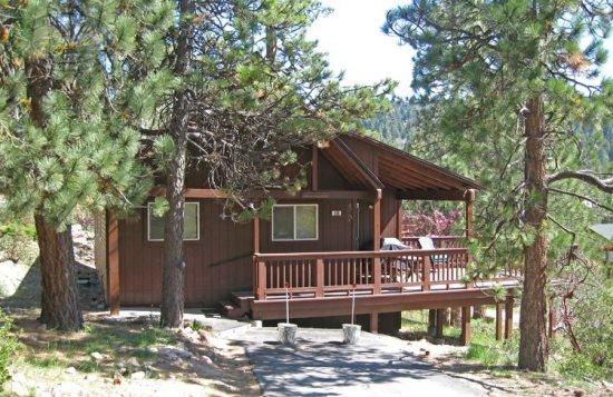 Front of cabin - Boulder Bay Getaway Cabin is a cozy, pet friendly vacation cabin in Big Bear, with scenic views of the pine trees. - Big Bear Lake - rentals