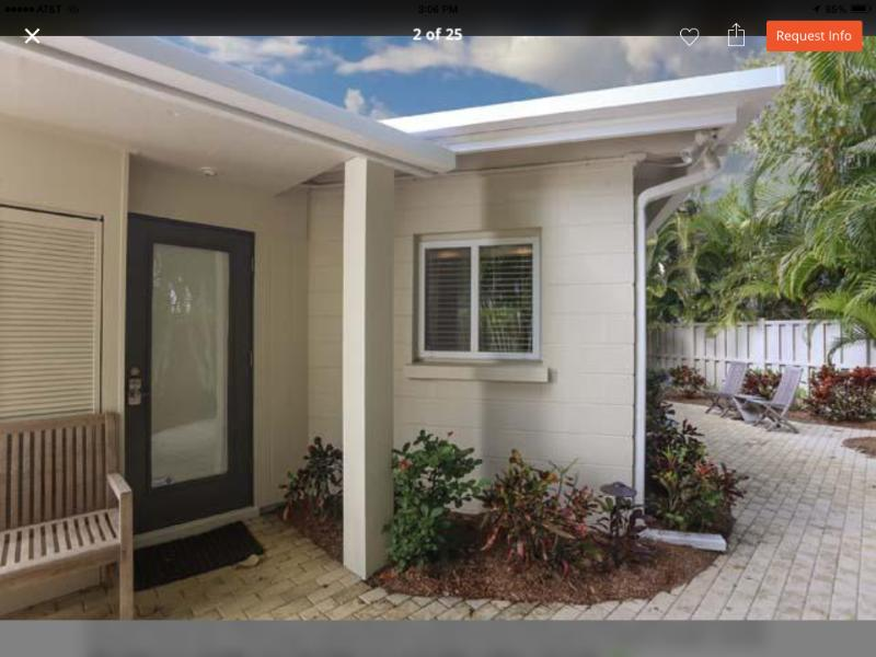 Private entrance and outdoor space with keyless secure lock - OUR HOUSE ON SIESTA KEY - Siesta Key - rentals