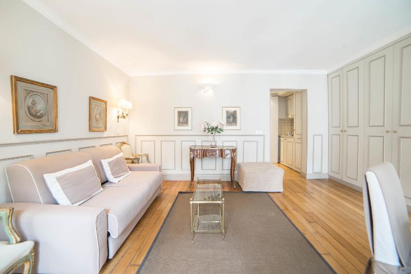 Living Room - Chez Honoré: Elegant one bedroom 4P in the center of Paris - Paris - rentals