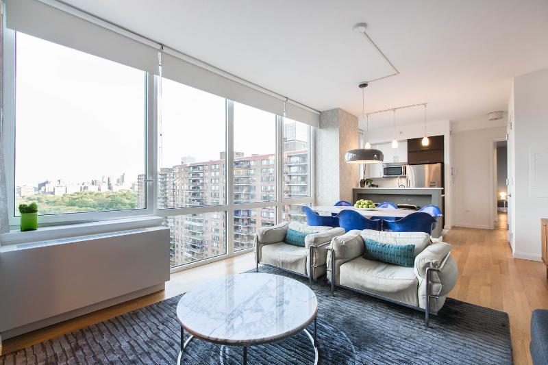 Living Room - Luxury 2Bed/2.5Bath Apt with Central Park Views! - New York City - rentals
