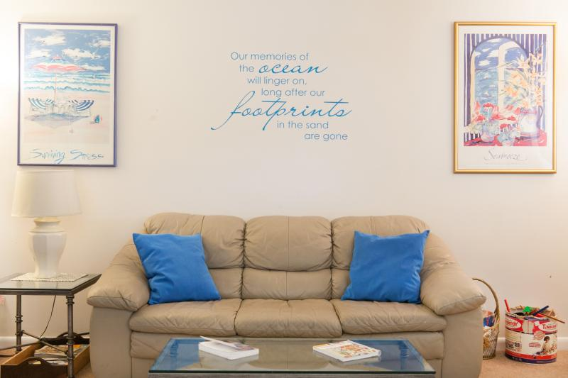 The cozy living area welcomes you at the end of the day - Charming Bethany Beach Getaway - Bethany Beach - rentals
