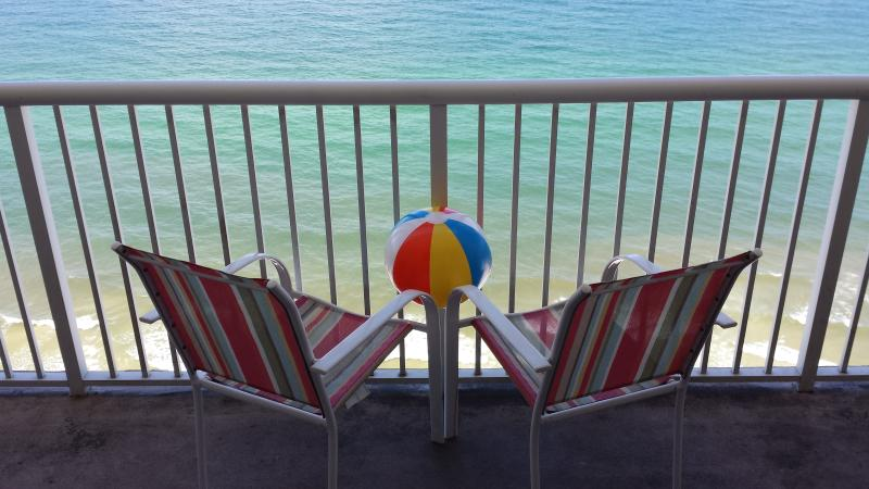 Balcony view! At  Majestic 2210 - BEST Winter in Paradise for your family! Sleep 10 - Panama City Beach - rentals