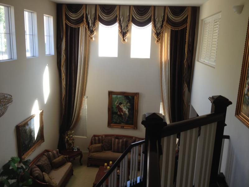 View of Living Room from Second Floor, High Ceiling and Skylights - Rare City / Mountain View Home in Los Angeles, CA - Tujunga - rentals