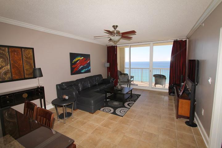 Living Area - Majestic Beach Resort  T1 Unit 1302 - Panama City Beach - rentals