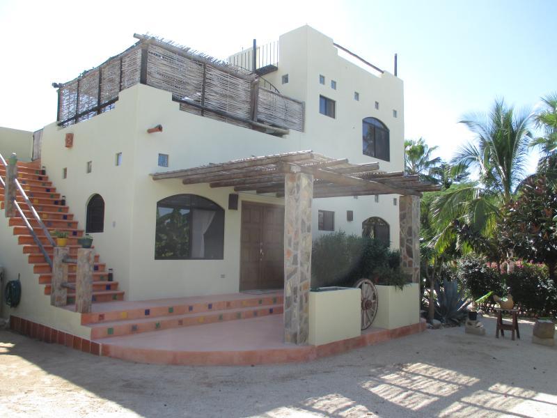Front View of House - Iguana de los Mangos - Todos Santos - rentals
