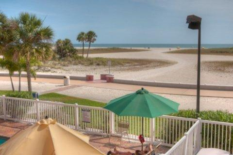 View From the Private 2nd Floor Balcony - 206 - Surf Beach Resort - Treasure Island - rentals