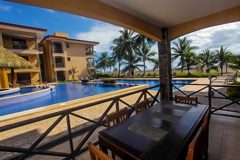 pool terreace - Bahia Encantada 1B 1st Floor Beach View - Jaco - rentals