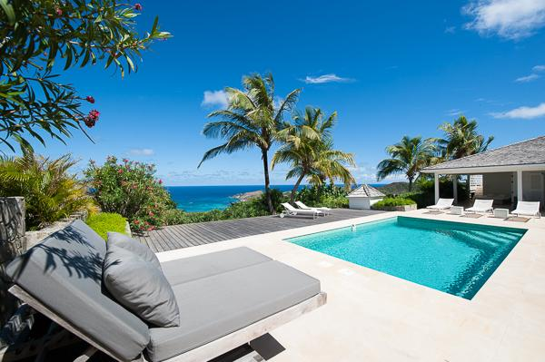 Unique, expansive villa with sunny poolside & great view WV TIA - Image 1 - Vitet - rentals