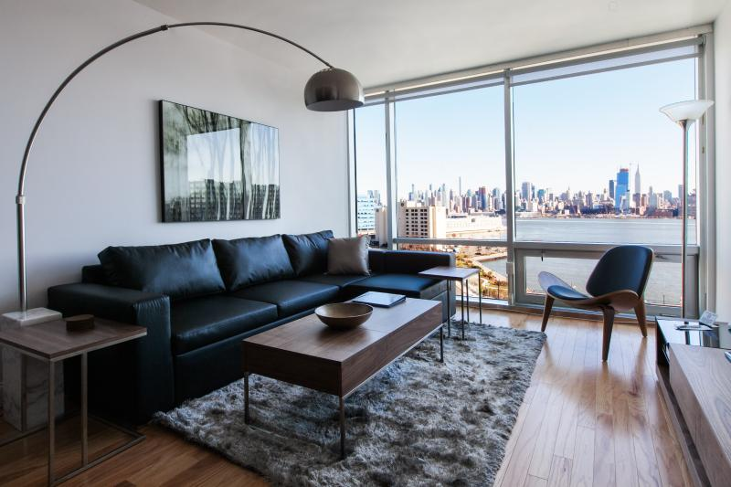 The Living Room - Sky City at River View, 2 bedroom with NYC View! - Jersey City - rentals