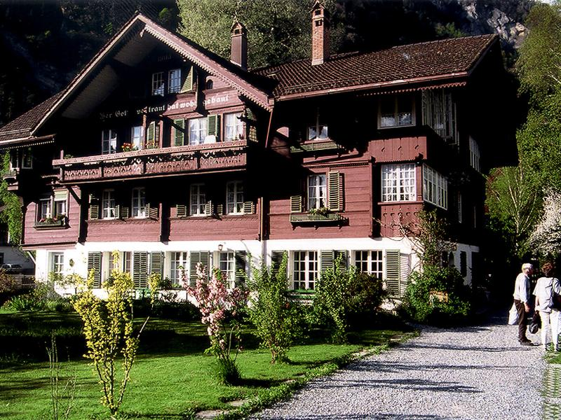 The historic CityChalet building where the Studio is situated on the ground floor. - CityChalet historic Studio - Interlaken - rentals