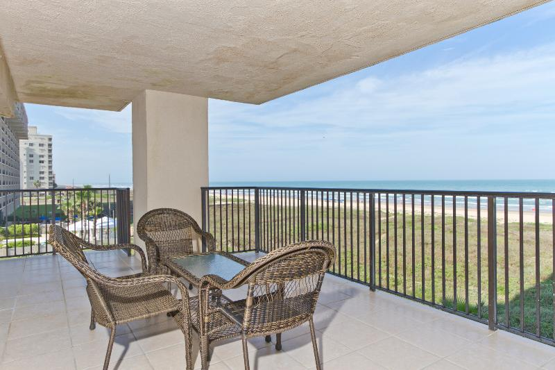 Private balcony with the best beach views. - Ocean Vista #407 - South Padre Island - rentals