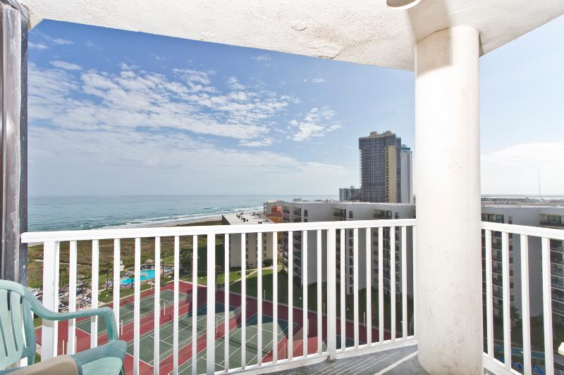 Balcony with great views to the beach. - Saida Royale  #9114 - South Padre Island - rentals