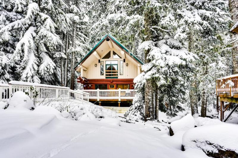 Dog-friendly hideaway near Timberline with soothing hot tub - Image 1 - Government Camp - rentals