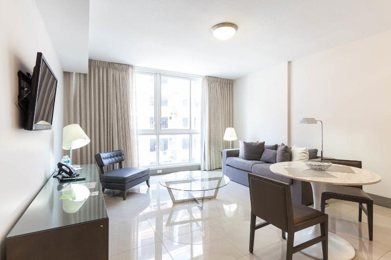 Living Room - New and Modern One Bedroom Apartment- Habitat Resi - Brickell - rentals