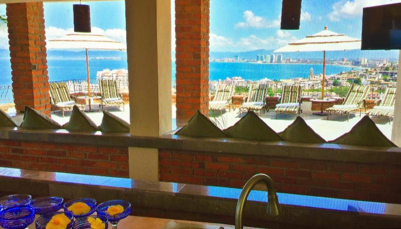 Roof Top Bar and Deck has plenty of room and seating. - 5 to 12 Bdrm Villa, Xllnt Location, Staff,  Pool - Puerto Vallarta - rentals