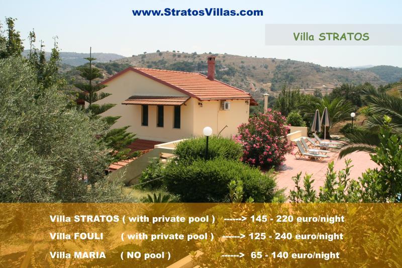 Stratos, Fouli, Maria Villas in Rethymno Crete - Image 1 - Rethymnon - rentals