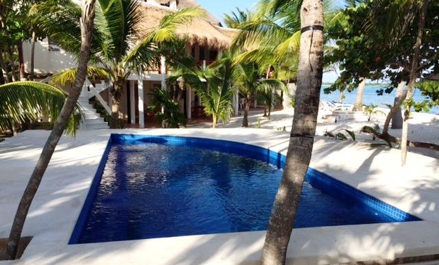 Pool and Villa all with a Beautiful view of the Bay - Casa Tortuga Soliman Bay Beachfront 4bdrm Villa - Soliman Bay - rentals