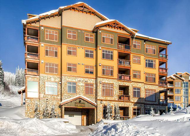 Parkade 4 - Aspens 412 Top of Porcupine Road Location Sleeps 6 - Big White - rentals