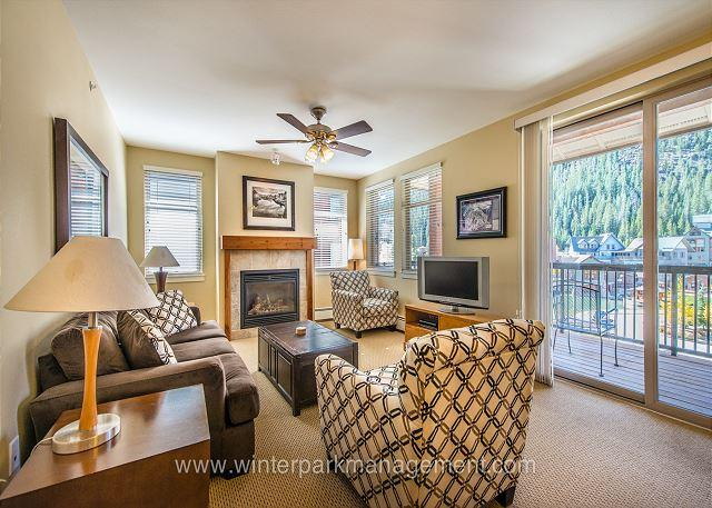 great slope views from this Fraser Crossing two bed/ 2 bath - Image 1 - Winter Park - rentals
