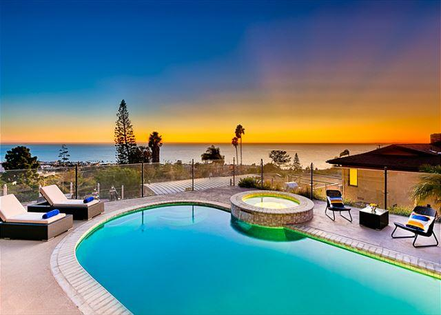 Private pool and spa with unobstructed ocean and sunset views - Image 1 - La Jolla - rentals