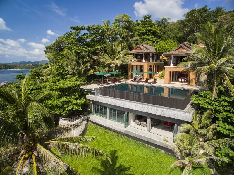 Aerial view of Villa Sunyata and Kata Beach - Luxury Villa Sunyata, Kata Beach - 8BR Ocean Front - Kata - rentals