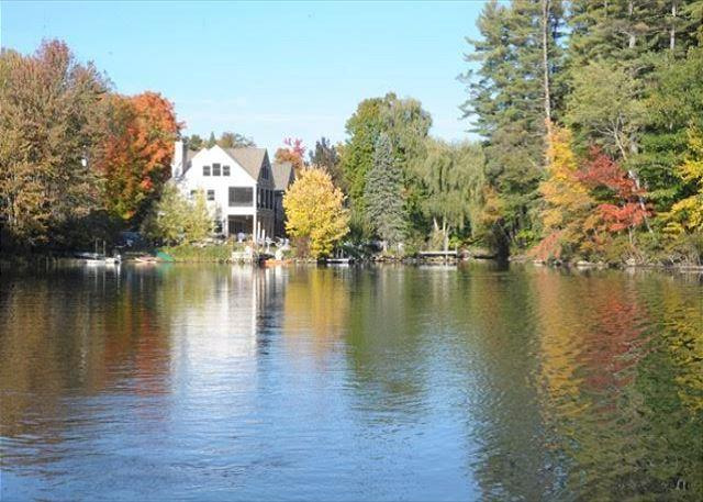 Lake view of home - Lake Waukewan Luxury Waterfront (WOO22W) - Meredith - rentals