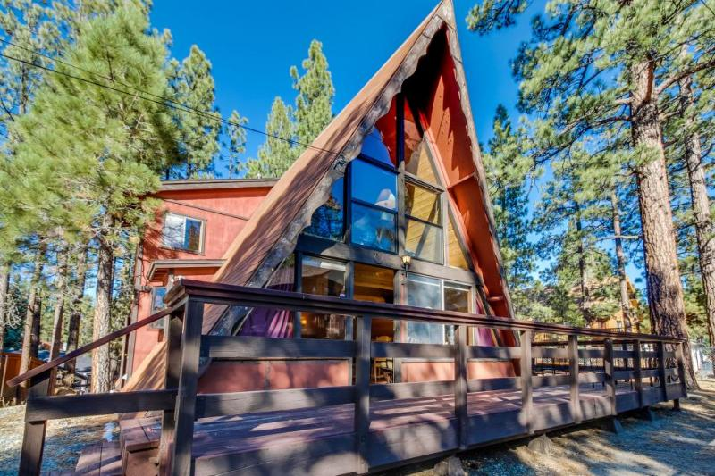 Rustic A-frame cabin w/ private hot tub - close to ski and beach access! - Image 1 - Big Bear Lake - rentals
