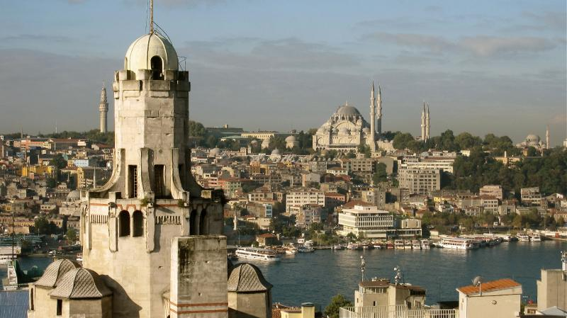 next to galata tower, views from shared terrace - Image 1 - Istanbul - rentals
