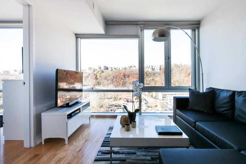 The Living Room - Sky City at River View Modern 2 Bedroom Apartment - Jersey City - rentals