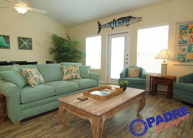 Living room - Come stay at this All-New town home at the exclusive Nemo Cay Resort - Corpus Christi - rentals