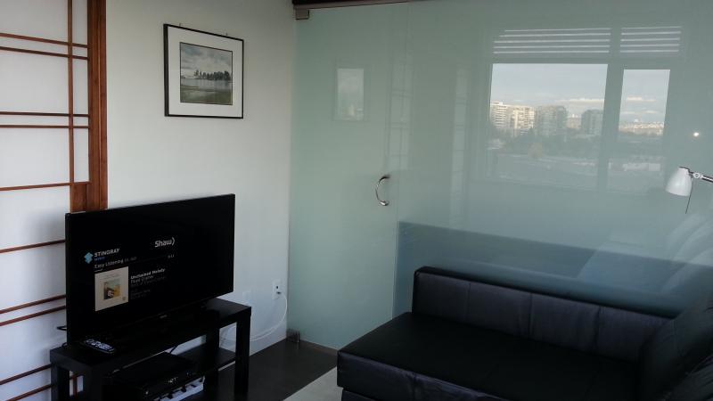 Living room TV & sofa - Beautiful Deluxe 1 Bedroom Condo - Vancouver - rentals
