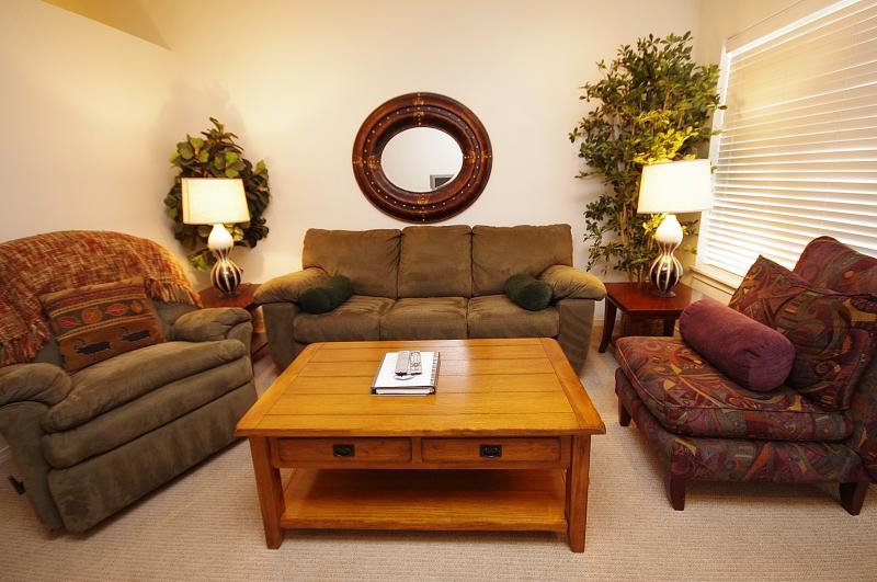 Living Room Seating with Sofa Sleeper - Collins Lake Resort - No cleaning fee, Winter Deal - Government Camp - rentals