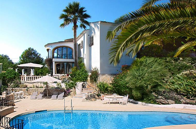 View across pool to Villa. - Luxury 6/7 bed villa, heated 10m pool & jacuzzi - Javea - rentals