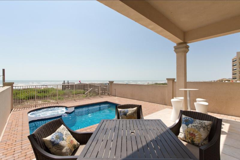 Private heated pool with beach views - 5416 Gulf Blvd - South Padre Island - rentals